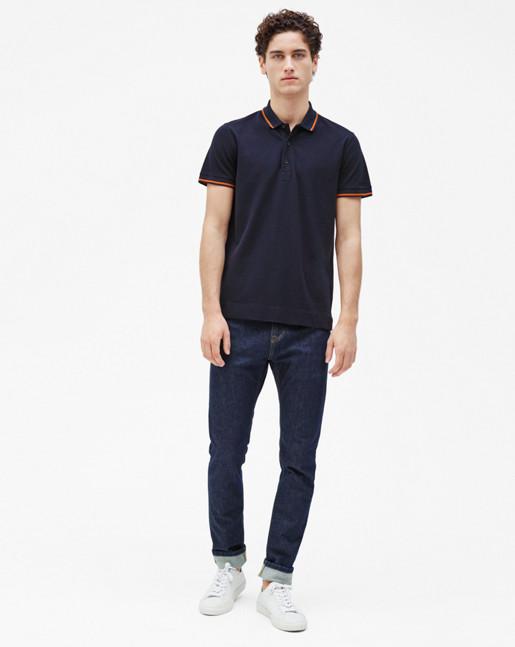 Pique Polo Shirt Navy