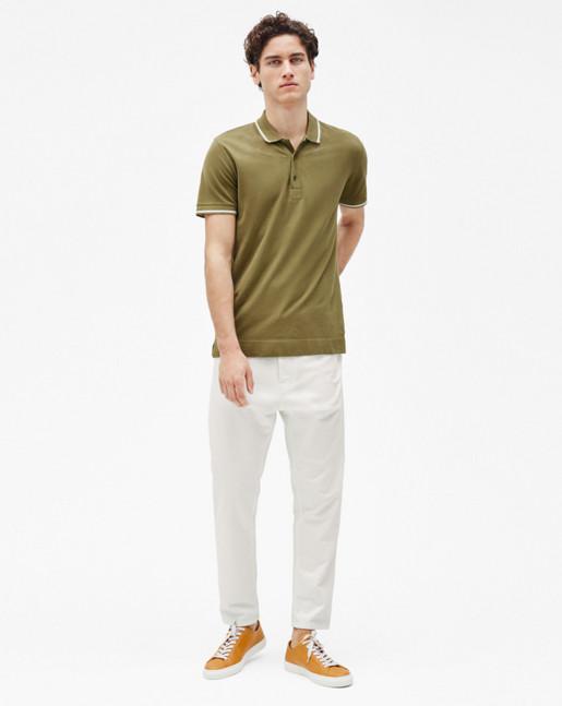 Pique Polo Shirt Olive