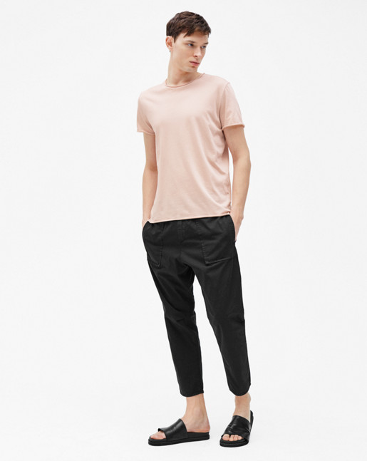 Roll Neck Tee Dusty Pink