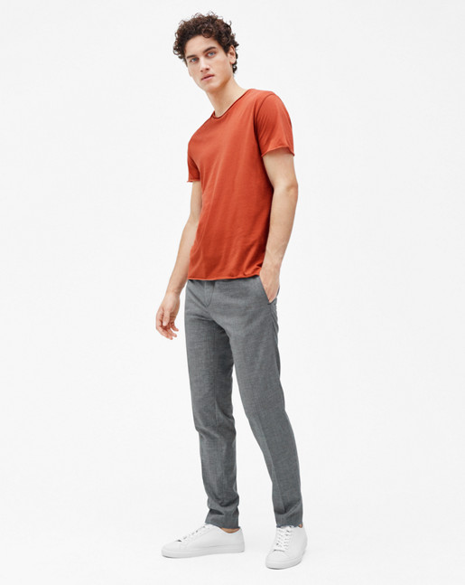 Roll Neck Tee Rust