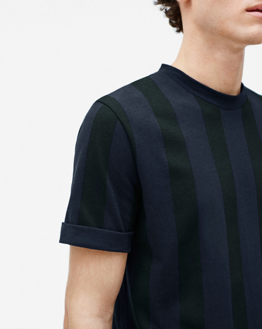 Adrian Stripe Tee Navy/Black