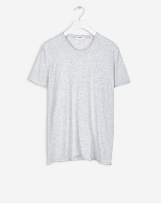 Roll Neck Melange Tee Cloud Melange