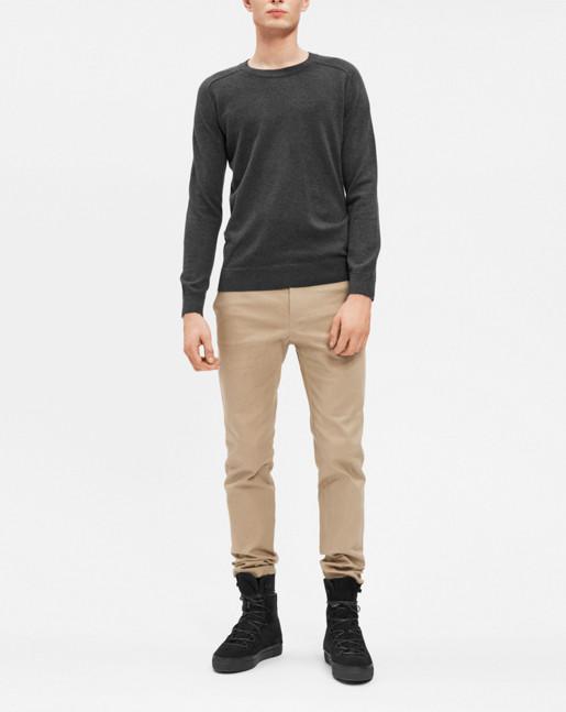 Cotton Merino Sweater Dk Grey Mel.