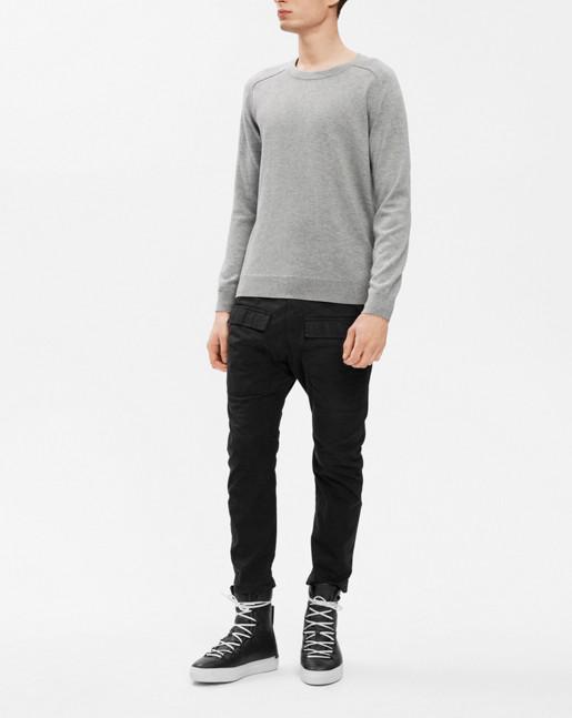 Cotton Merino Sweater Light Grey