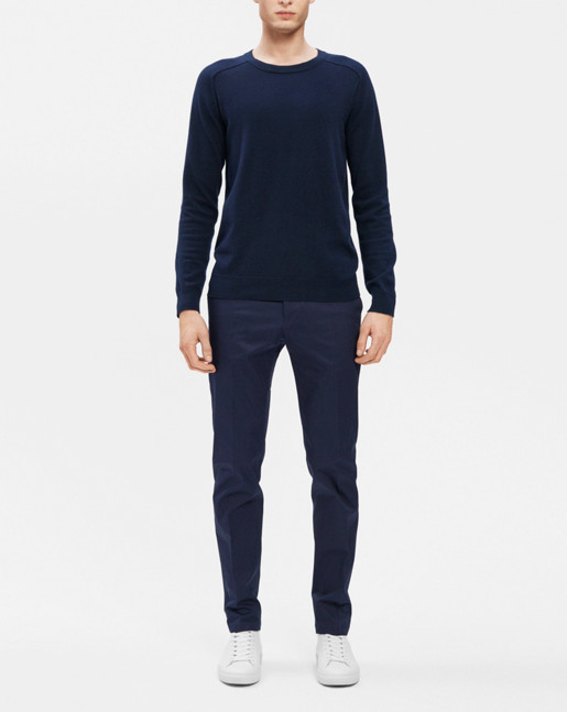 Cotton Merino Sweater Navy