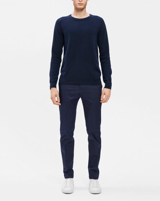 Cotton Merino Sweater Navy