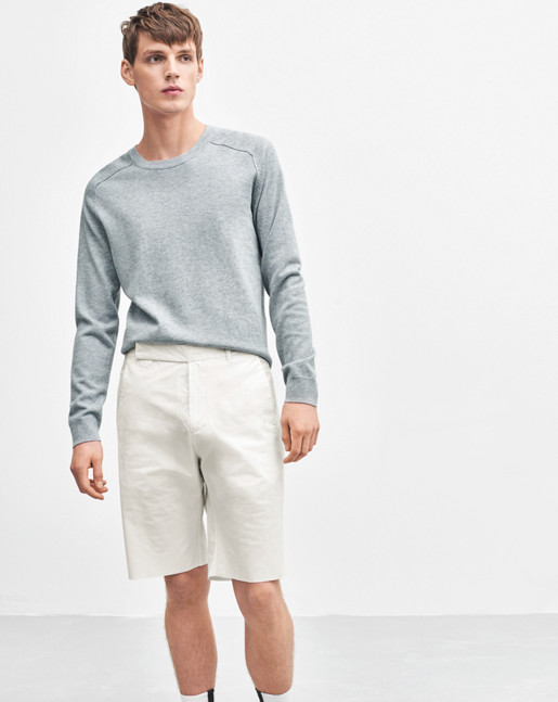 Cotton Merino Sweater Lightgrey