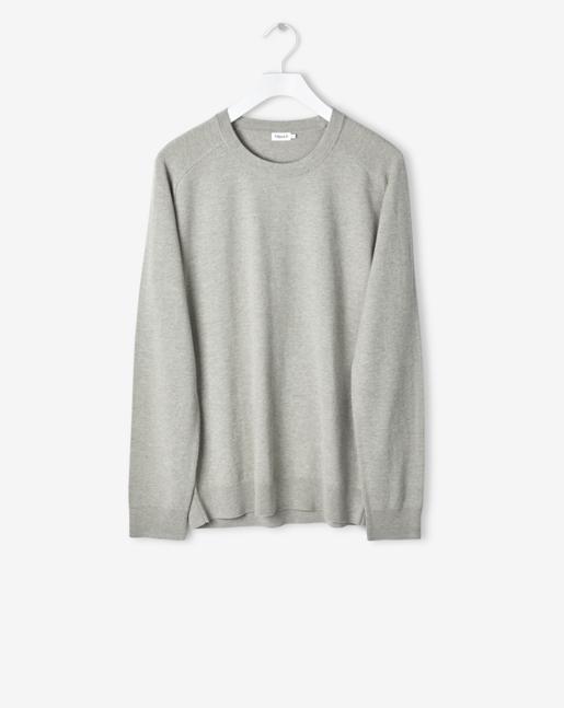 Cotton Merino Sweater Light Crocodile