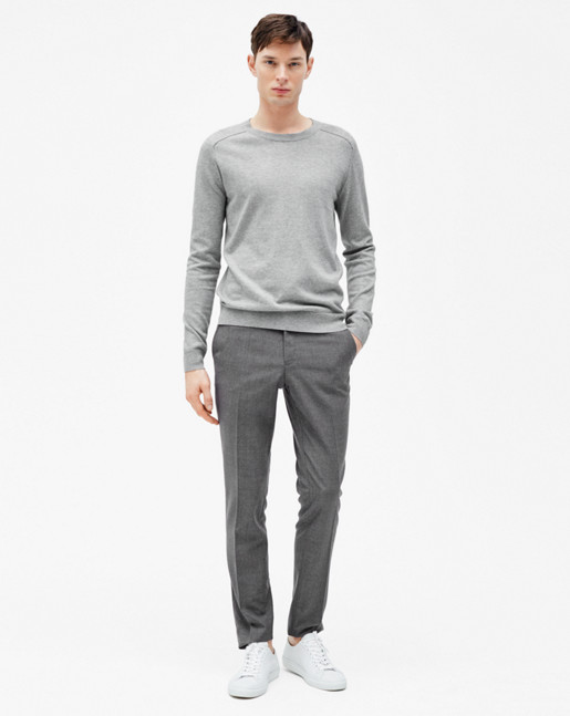 Cotton Merino Sweater Light Grey