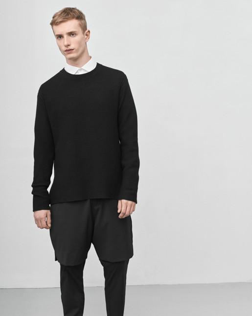 Wool Cotton Sweater Black