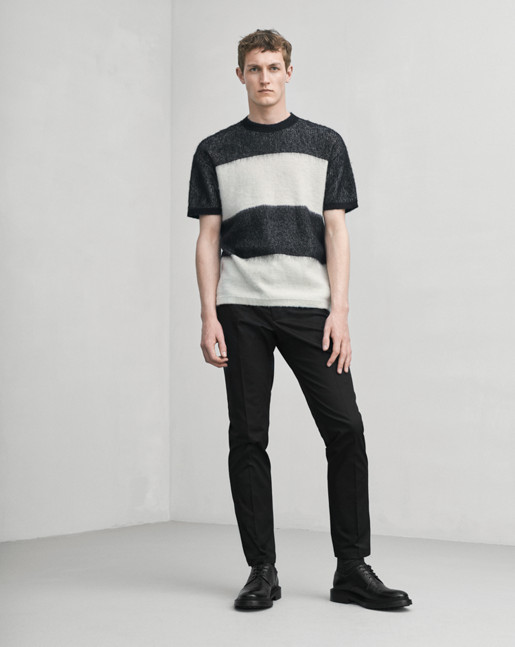Knitted Stripe Tee