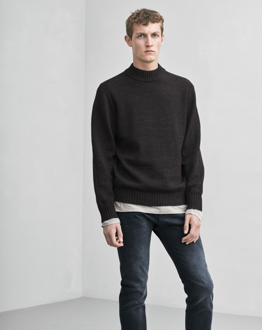 Wool Melange Sweater Black