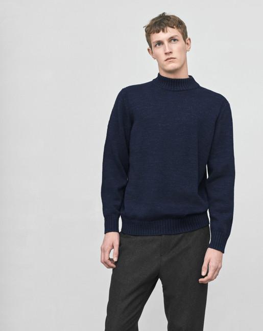 Wool Melange Sweater Navy