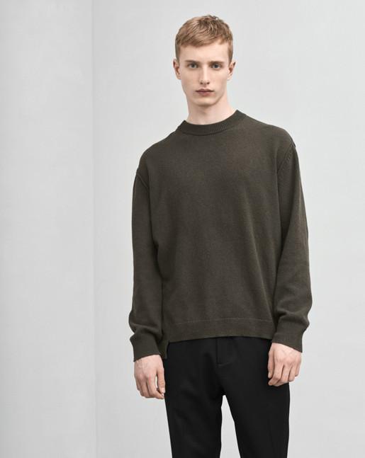 Organic Cotton/Yak Sweater Black Forest