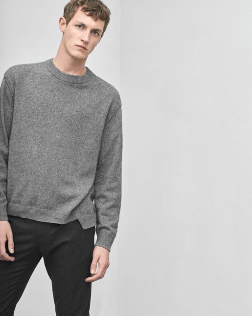 Organic Cotton/Yak Sweater Grey
