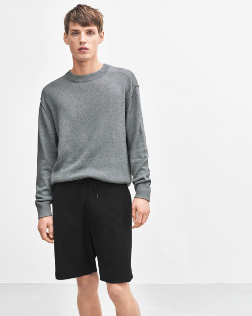 Organic Cotton/Yak Sweater Light Grey