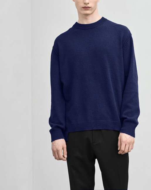 Organic Cotton/Yak Sweater Navy