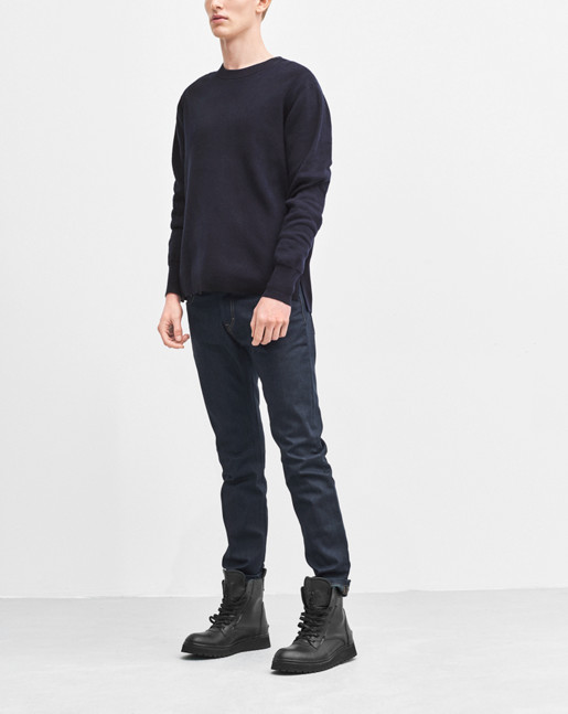 Organic Cotton R-Neck Navy
