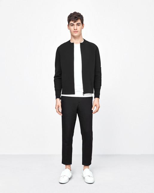Sharp Nylon Zip Jacket