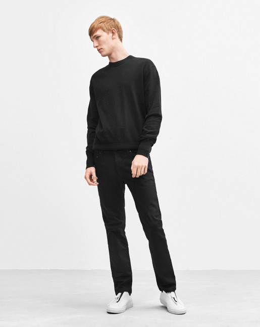 Cotton Cashmere Light Knit Black