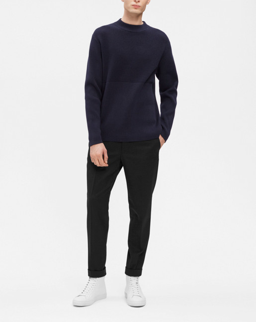 Organic Cotton Fishermen Knit Navy