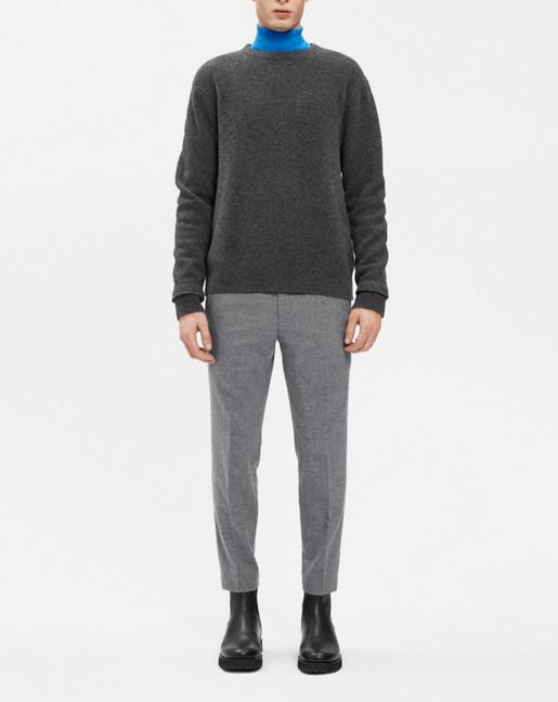 Wool Yak Sweater Dk Grey Mel.