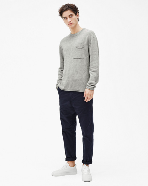 Cotton Linen Light Knit Grey Mel