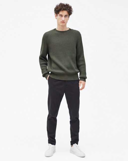 Ribbed Pullover Crocodile