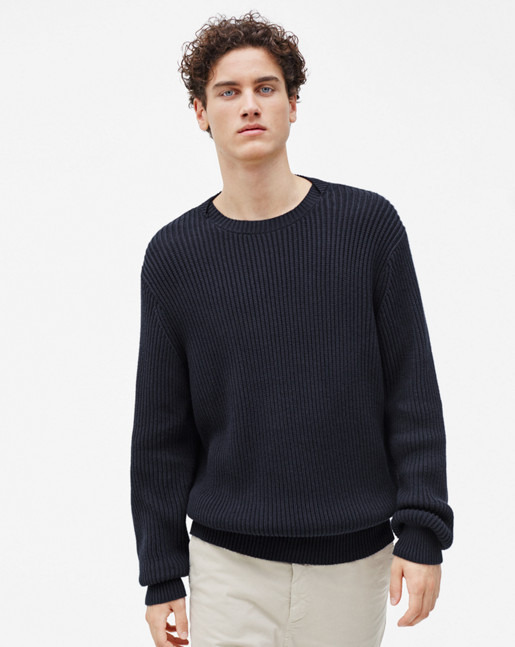 Ribbed Pullover Navy