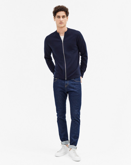 Zip Cardigan Navy