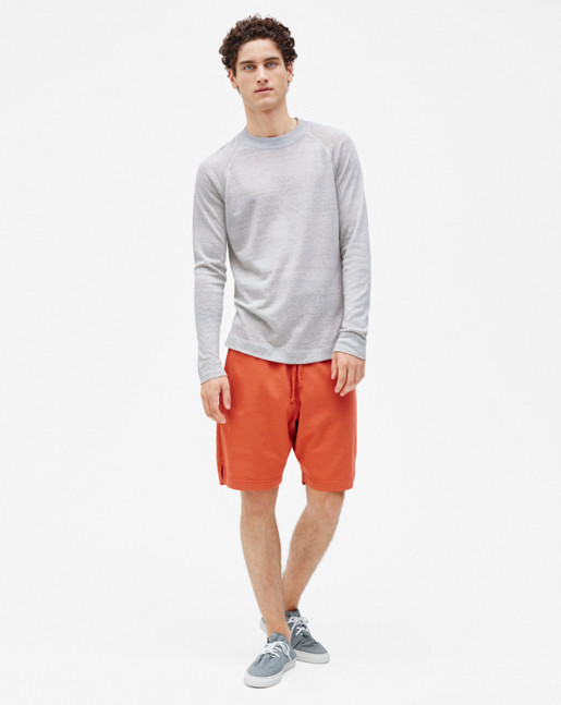 Linen Sweater Light Grey Melange