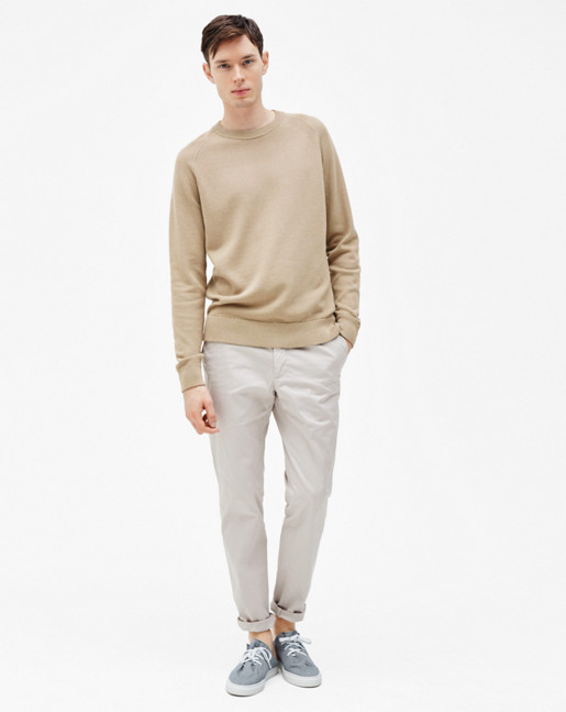 Sharp Cotton Tuck Knit Greige