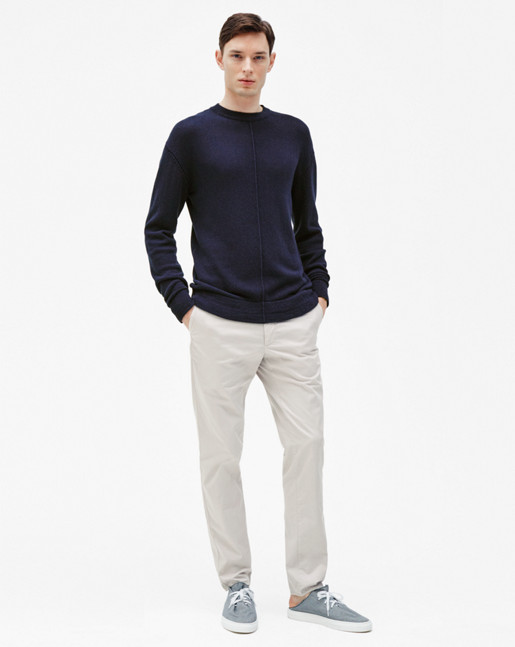 Cotton Mix Sweater Deepwater