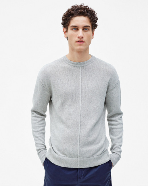 Cotton Mix Sweater Grey Melange