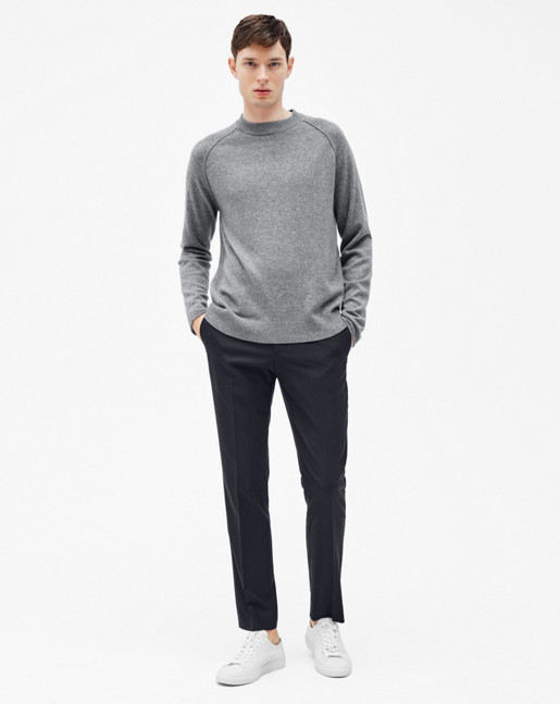 Cashmere Sweater Grey Melange