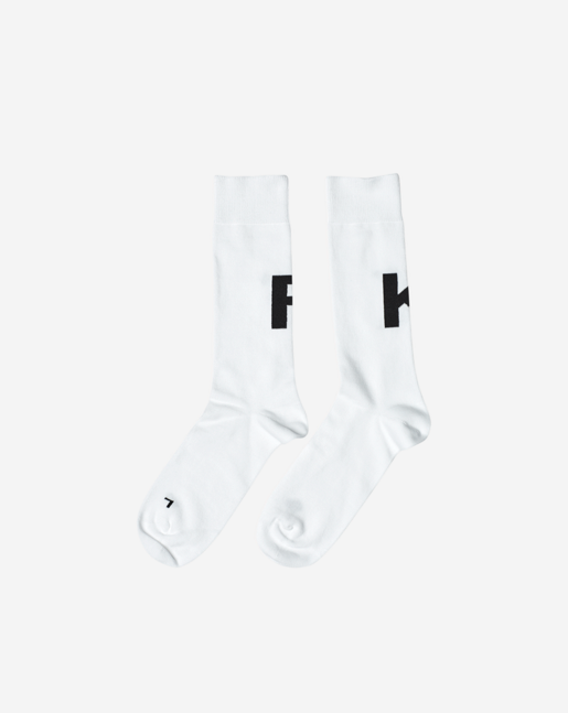 F K Cotton Sock White / Black