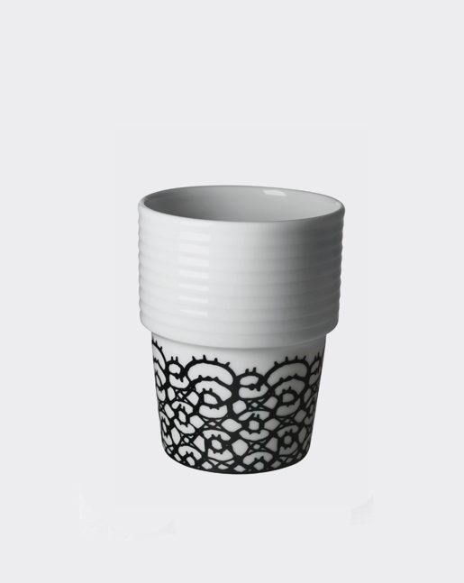 Coffee Cup Black Lace
