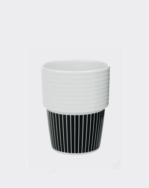 Coffee Cup Black Pinstripe