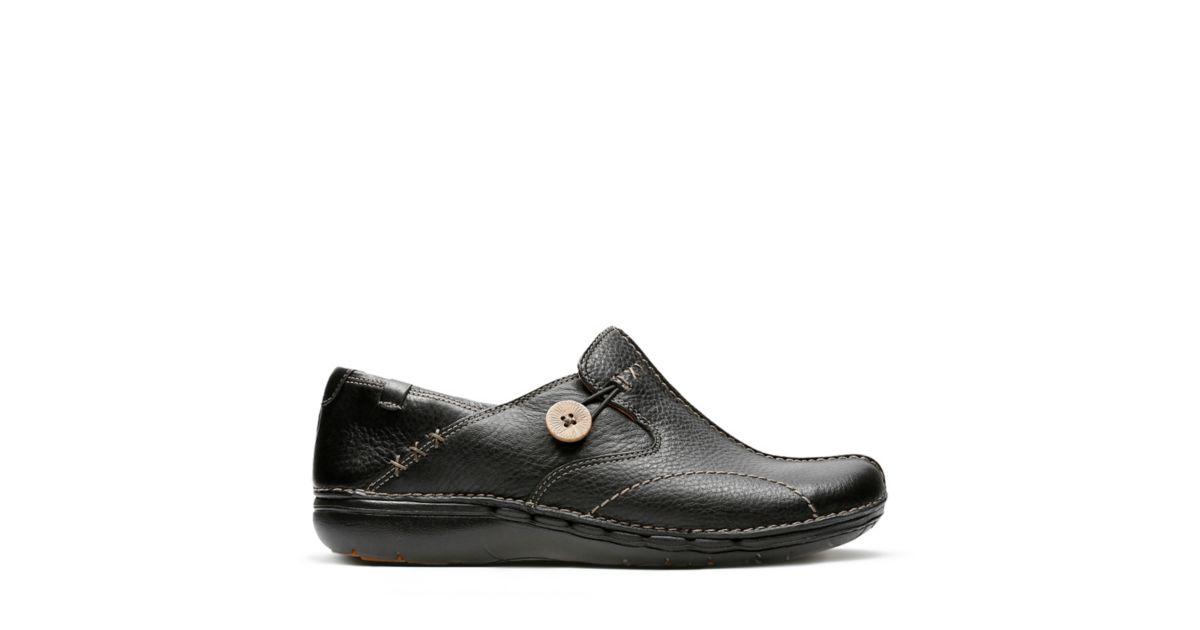 Un Loop Black Women S Wide Width Shoes Clarks 174 Shoes