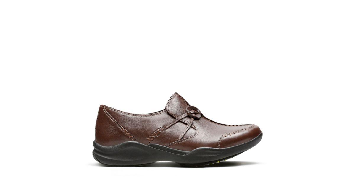 Wave Run Dark Brown Leather Women S Wavewalk Shoes