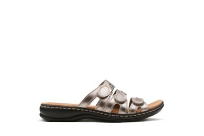 CLARKS Women's Leisa Cacti Slide Sandal, Nude Leather, ...
