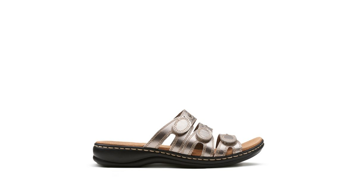 26d401199aab7 Leisa Cacti Q Pewter Leather - Shoes for Women - Clarks® Shoes Official  Site