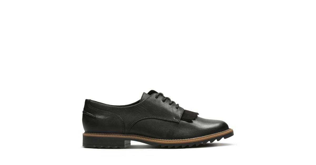Griffin Mabel Black Leather - Clarks Women's Shoes - Clarks® Shoes Official  Site   Clarks