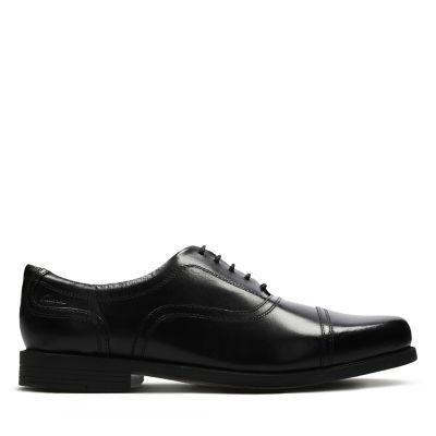 Clarks Beeston Cap Lace Up Wide Fit Shoes Mens Footwear Shop Mens Footwear COLOUR-black