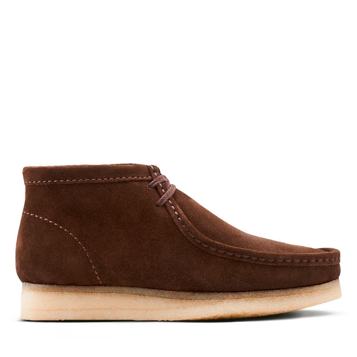 Wallabee Boot Brown Suede Clarks Originals Mens Boots