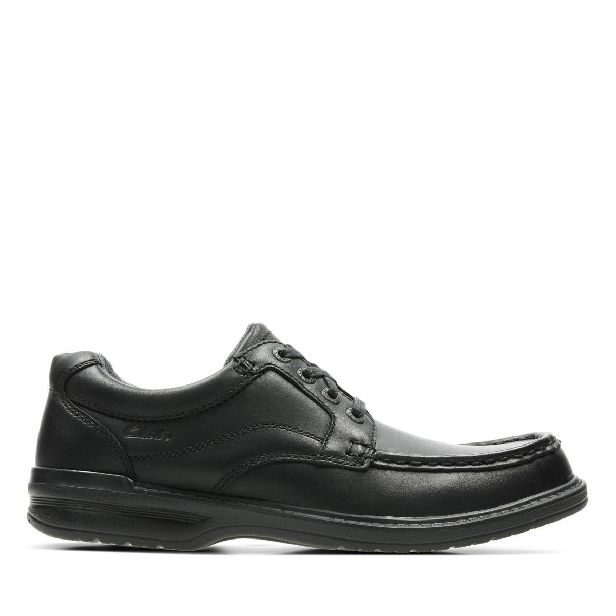 Keeler Walk Black Leather Clarks