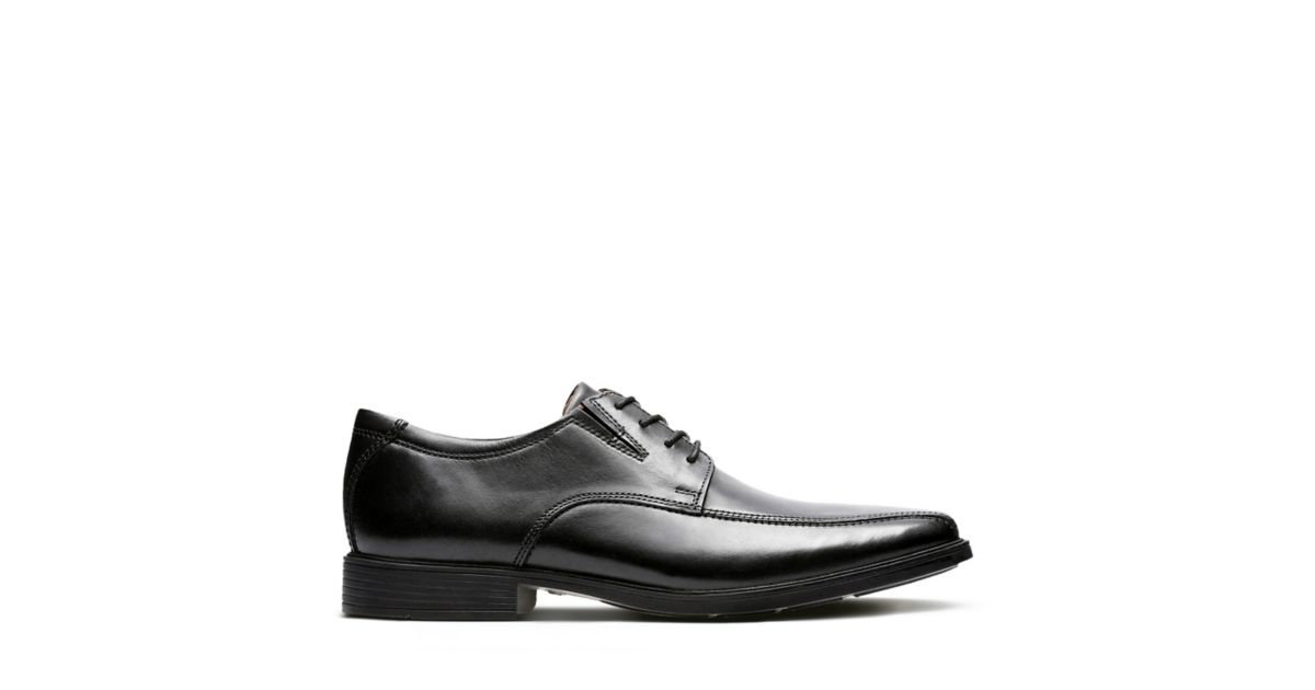 21bb80d4dee6a2 Tilden Walk Black Leather - Men s Black Edit - Clarks® Shoes Official Site