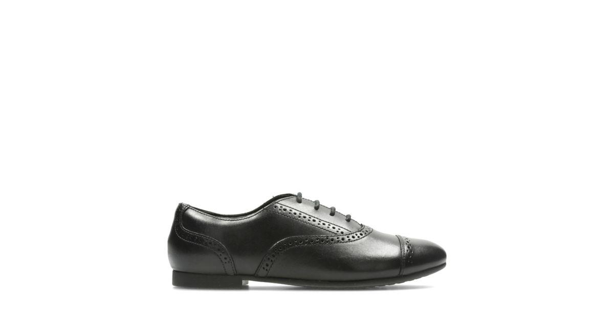 Clarks Ladies Black Patent Shoes