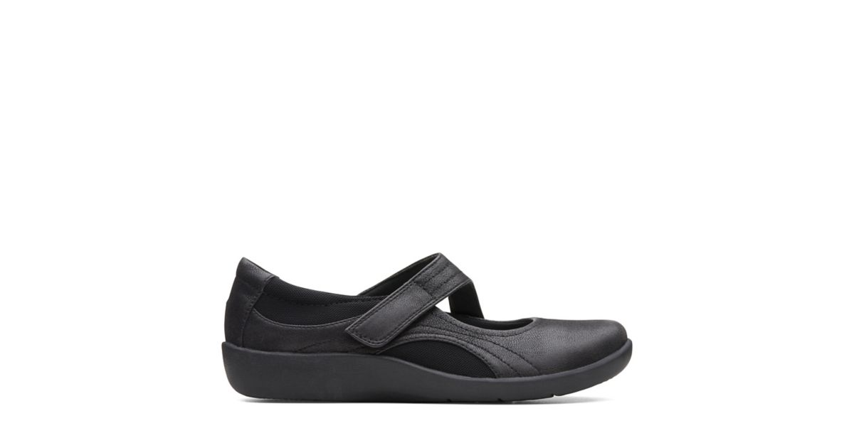 98d23c34c4ad Sillian Bella Black Synthetic Nubuck - Womens Narrow Width Shoes - Clarks®  Shoes Official Site