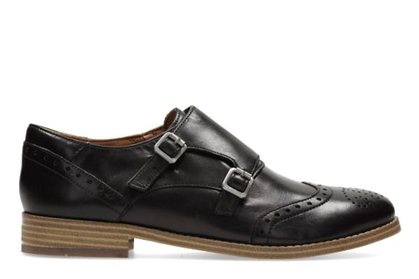 Zyris Vienna, black leather womens brogues